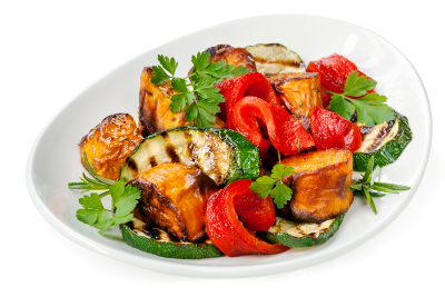 Roast Vegetable Salad with Sesame Dressing